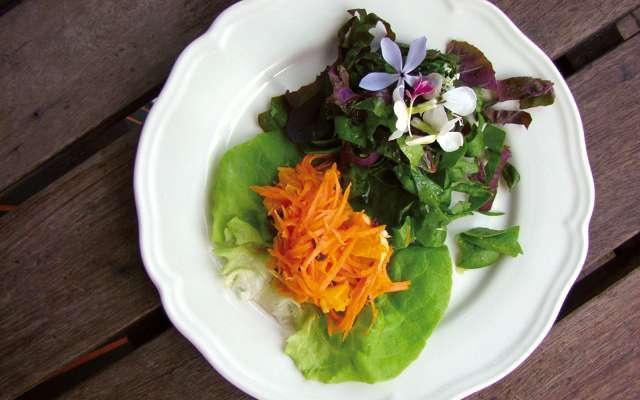 Salade de jeunes carottes à l'orange et à la menthe