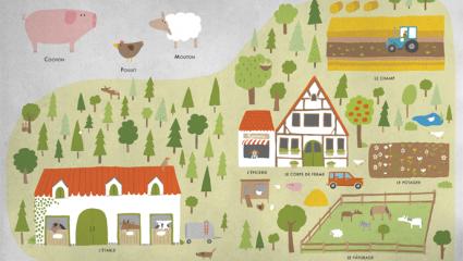 Un album écologique pour faire découvrir la ferme aux enfants