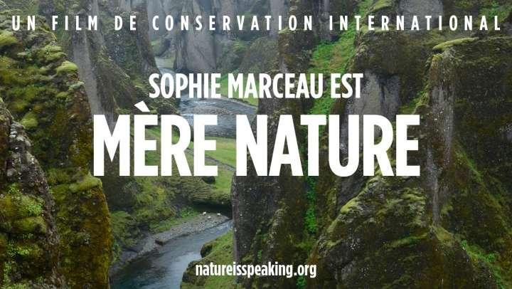 Sophie Marceau prête sa voix à la nature